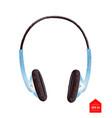 top view of headphones vector image