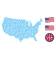 united states map collage of chain vector image vector image
