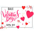 valentine day lettering background vector image vector image