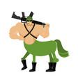 warrior centaur soldier fairytale creature vector image
