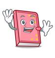 waving diary character cartoon style vector image