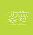 yoga and sport motivation banner vector image vector image