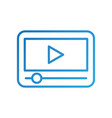 device with video player button media network vector image