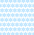 Seamless background of blue snowflakes vector image