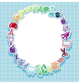 Back to school - card with icons vector image