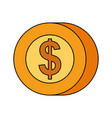 coin dollar money cash payment mobile button vector image
