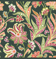 floral leaf and flower seamless pattern abstract vector image