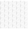 3d white geometric background vector image vector image
