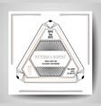 art deco wedding invitation save date card vector image vector image