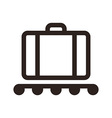 Baggage claim - travel icon vector image