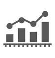 bar chart analytics glyph icon business and vector image vector image