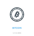 bitcoin line flat icon vector image
