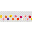 border colorful gerber transparent background vector image vector image