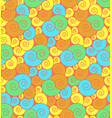bright curly seamless pattern vector image vector image
