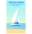 business meeting sailboat vector image