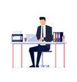 businessman in a flat style isolated on white vector image vector image