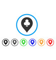 clubs casino pointer icon vector image vector image