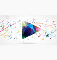 colorful music notes pattern vector image vector image