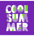 Cool Summer T-shirt Typography vector image vector image