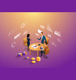 coworkers office concept with characters vector image vector image