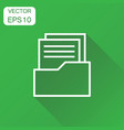 document icon business concept archive data file vector image