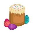 Easter isolated vector image vector image