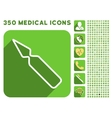 Empty Ampoule Icon and Medical Longshadow Icon Set vector image vector image