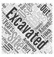 Excavation Word Cloud Concept vector image vector image