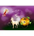 Fairy Pumpkin Cart vector image vector image