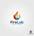 fire lab logo template vector image vector image