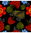 Floral pattern with elements of painting Petrikov vector image vector image