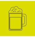 fresh beer design vector image vector image