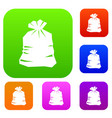 garbage bag set collection vector image vector image