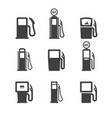 gas pump icons vector image vector image