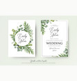 Greenery floral wedding invitation card design