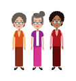 group grandmother family member vector image