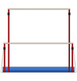 Gymnastics equipment uneven bars vector image vector image