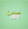 handwritten summer retro label vector image vector image