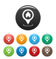 home map pointer icons set vector image vector image
