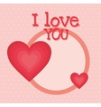I love you colorful graphic design vector image vector image