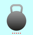 kettlebell it is icon vector image vector image