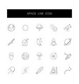line icons set space pack vector image vector image