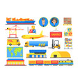 logistic elements colorful infographic vector image