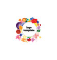 logo template in center colorful circles vector image vector image