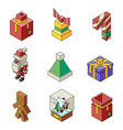 lowpoly christmas polygonal outline new year vector image vector image