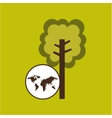 map earth environment ecological green tree vector image