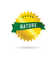 nature green ribbon vector image vector image