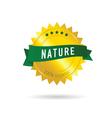 nature green ribbon vector image