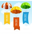 Parachute Banners vector image