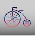 penny-farthing icon white isolated on green vector image vector image